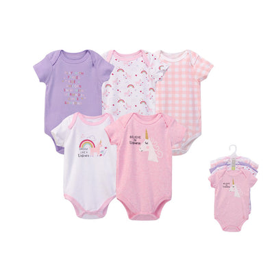 Hudson Baby Bodysuits 5 Piece Pack Unicorn 31629 - 0512 - Little Kooma