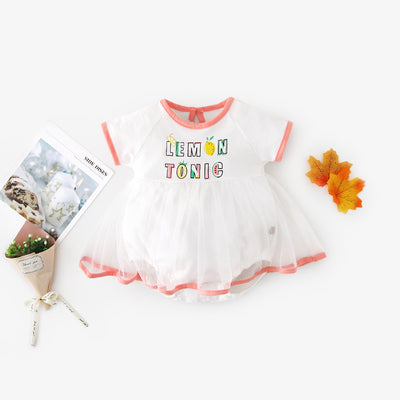 Baby Girl Lemon Tonic Bodysuit Dress Voile Skirt - Little Kooma