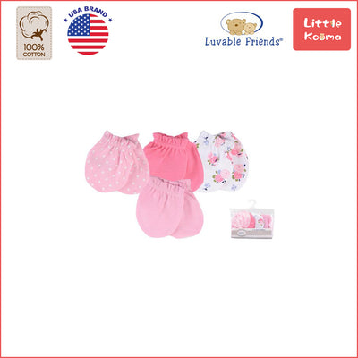 Baby Scratch Mittens Set 4 Pairs 34725 - Little Kooma