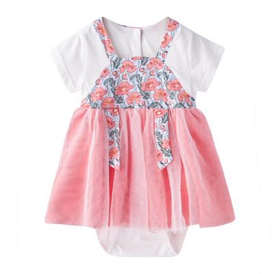 [BG03] Baby Girl Cheongsam Splicing Bodysuit Dress - Little Kooma