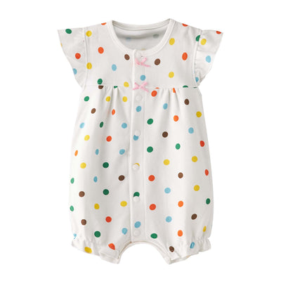 Baby Colourful Polka Dots Rainbow Romper - Little Kooma