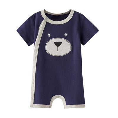 Baby Dark Blue Bear Romper - Little Kooma