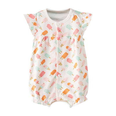 Baby Girl White w Popsicles Romper - Little Kooma