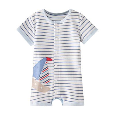 Baby Stripes w Ship Romper - Little Kooma
