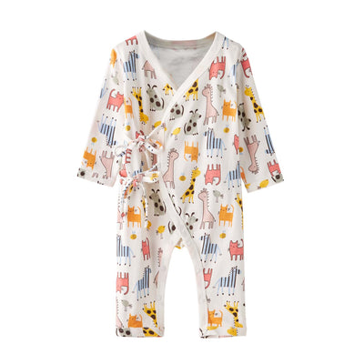 Baby Kimono Sleepsuit All In One Animals - Little Kooma