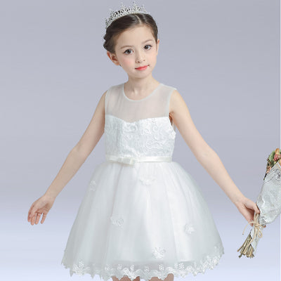 Girl's White Butterfly Gown Confirmation Dress - Little Kooma