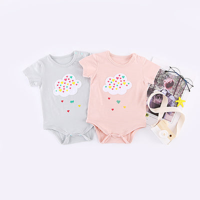 Baby Colorful Rain In The Cloud Bodysuit - 1006 - Little Kooma