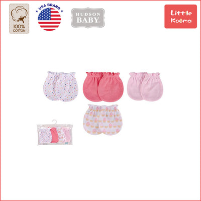 Baby Scratch Mittens Set 4 Pairs 52329 - 1006 - Little Kooma