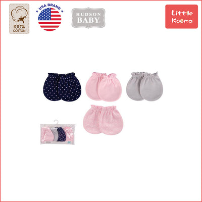Baby Scratch Mittens Set 4 Pairs 52330 - Little Kooma