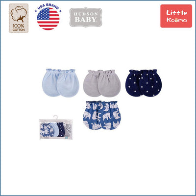 Baby Scratch Mittens Set 4 Pairs 52333 - 0821 - Little Kooma