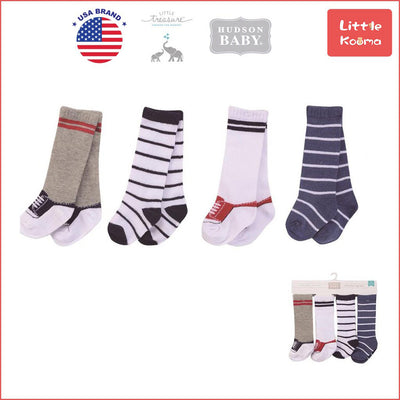 Hudson Baby Knee High Socks 4 Pairs Pack 54166CH - Little Kooma