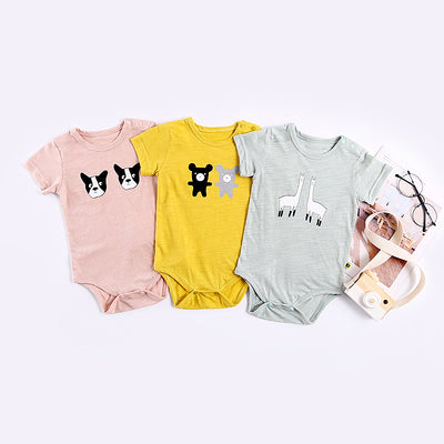 Baby Twin Animals Bodysuit - 1009 - Little Kooma