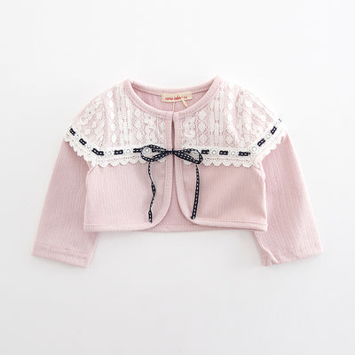 Baby Girl's Lace Covered Shawl Cape - 0524 - Little Kooma