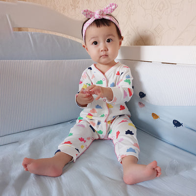 Baby Colorful Clouds Sleepsuits All In One - 0611 - Little Kooma