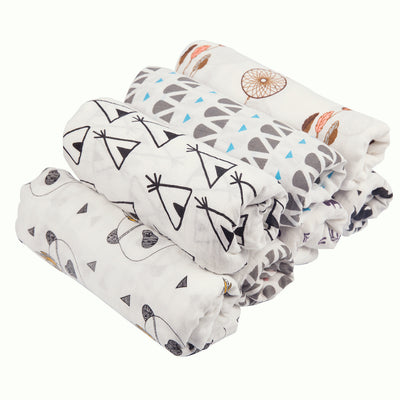 Baby Kid Single Layer Bamboo Fibre Blanket Swaddle 120*120 - 0605 - Little Kooma