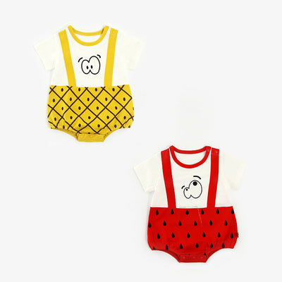 Baby Fruits Fake Two Piece Bodysuit - 1006 - Little Kooma