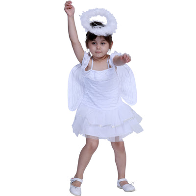 Kids Halloween Costume White Angel w Wings - Little Kooma