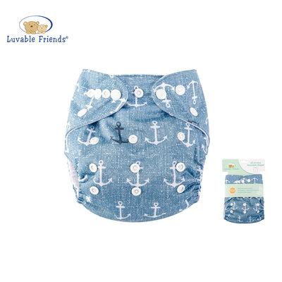 All In One Reusable Washable Adjustable Cloth Diapers Cover Baby Nappy 03971 - 0805 - Little Kooma