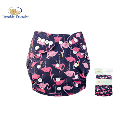 All In One Reusable Washable Adjustable Cloth Diapers Cover Baby Nappy 03975 - 0805 - Little Kooma