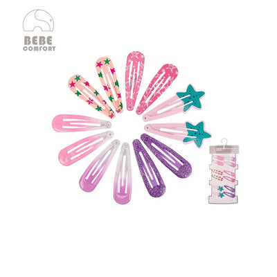 BEBE Comfort Hair Clips 12 Pcs Set BC73144 - 1103 - Little Kooma