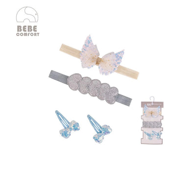 BEBE Comfort Headwraps n Hair Clips 4 Pcs Set BC73147 - 1103 - Little Kooma