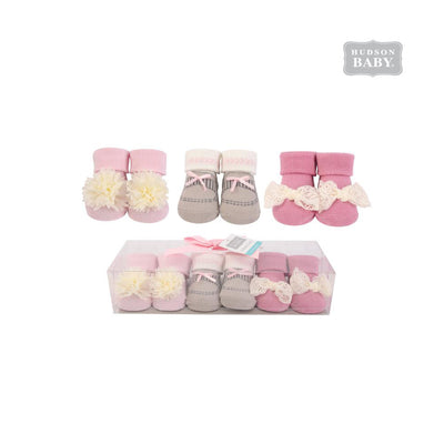 Baby Girl Newborn Baby 3 Pairs Socks Set 58257 - Little Kooma