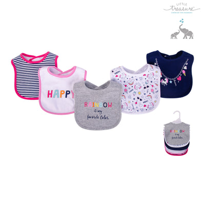 Baby 5pc Interlock Bibs 75514 - 0821 - Little Kooma