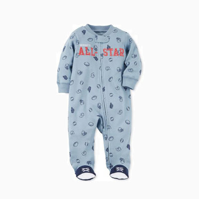 Baby All Star Sleepsuit Feet Covered Zip - 0622 - Little Kooma