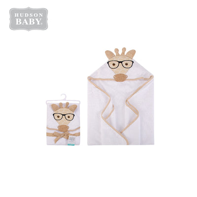 Baby Animal Hooded Towel(Woven Terry) 00348CH White Giraffe - Little Kooma