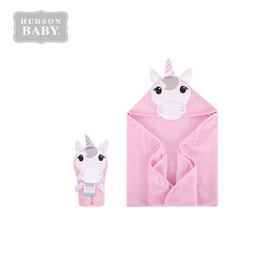 Baby Animal Hooded Towel(Woven Terry) 00353CH Pink Unicorn - Little Kooma