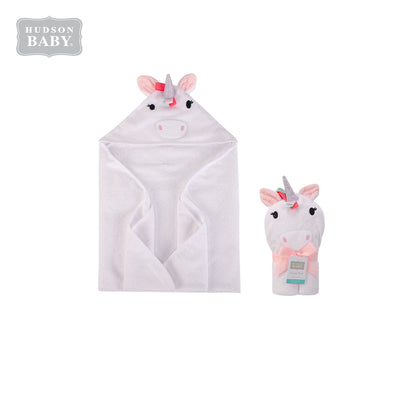 Baby Animal Hooded Towel(Woven Terry) 00427CH Multicolor Unicorn - Little Kooma