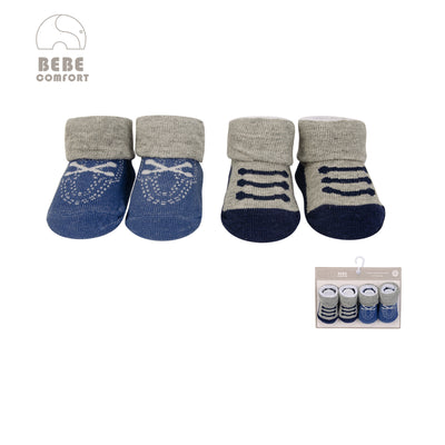 Baby Anti-slip Socks 2 Pair Pack 0-9 months BC71162 - 0805 - Little Kooma
