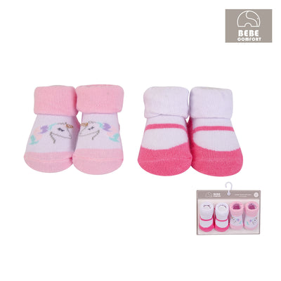 Baby Anti-slip Socks 2 Pair Pack 0-9 months BC71179 - 0805 - Little Kooma
