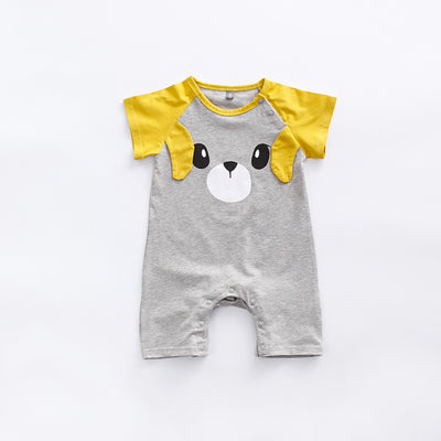 Baby Bear Splicing Sleeves Romper - 0902 - Little Kooma