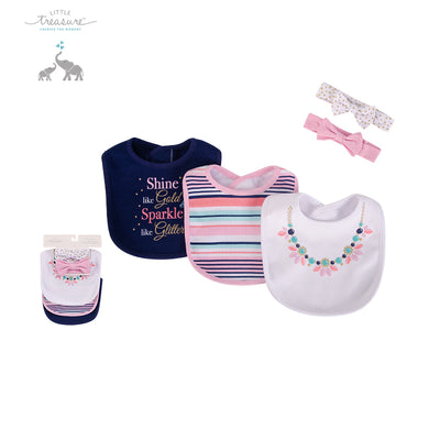 Baby Bibs & Headband Set 5pc 75525 - 0821 - Little Kooma