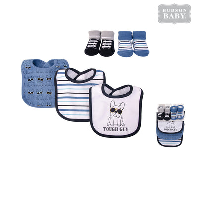 Baby Bibs & Socks Set 5pc 56223 - 0821 - Little Kooma
