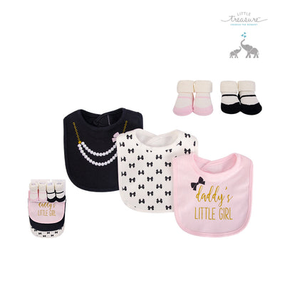 Baby Bibs n Socks 5 Pcs Set 75531 - 0528 - Little Kooma