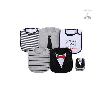 Baby Boy 5pc Interlock/Terry Bibs Set 71056 - Little Kooma