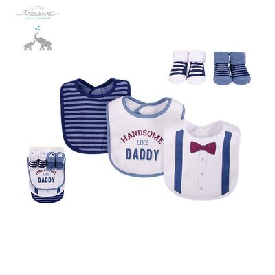 Baby Boy Bibs n Socks 5 Pcs Set 75529 - 1204 - Little Kooma
