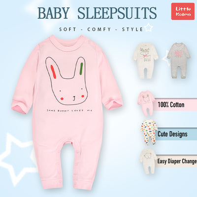 Baby Bunny Pink Jumpsuit All In One - Little Kooma