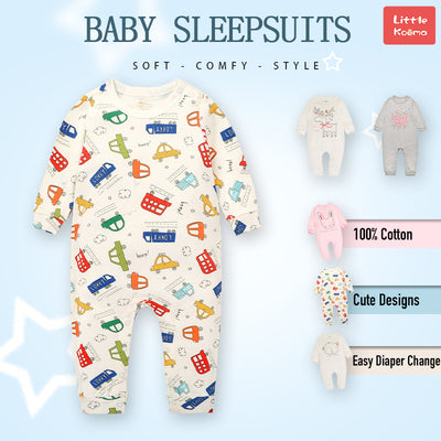 Baby Car Bus Lorry Jumpsuit All In One - Little Kooma