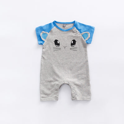 Baby Cat Splicing Sleeves Romper - 0902 - Little Kooma