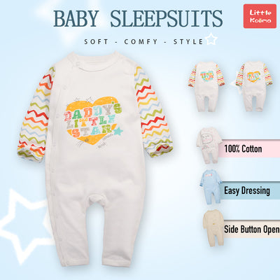 Baby Daddy's Little Star Colorful Sleeves Jumpsuit All In One - Little Kooma