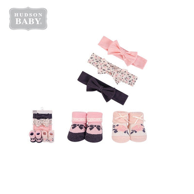 Baby Girl Headband & Socks Set 5pc 54157 - 0821 - Little Kooma
