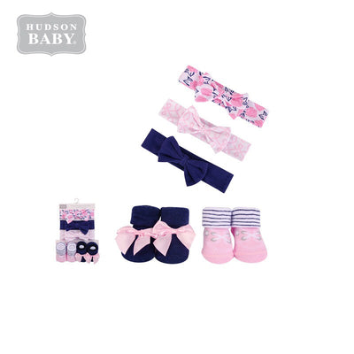 Baby Girl Headband & Socks Set 5pc 54484 - 0821 - Little Kooma