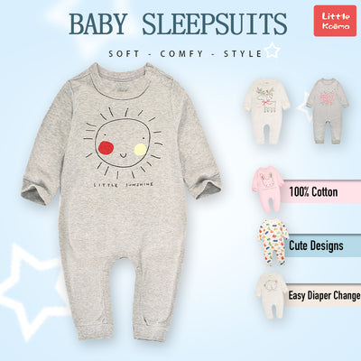 Baby Grey Little Sunshine Grey Jumpsuit All In One - Little Kooma