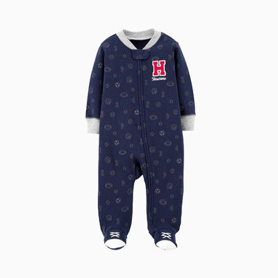 Baby Handsome Sleepsuit Feet Covered Zip - 0622 - Little Kooma