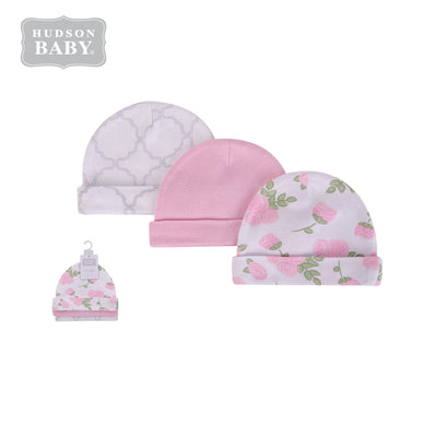 Baby Hats 3 Piece Pack 0-6 months 52307CH - 0805 - Little Kooma