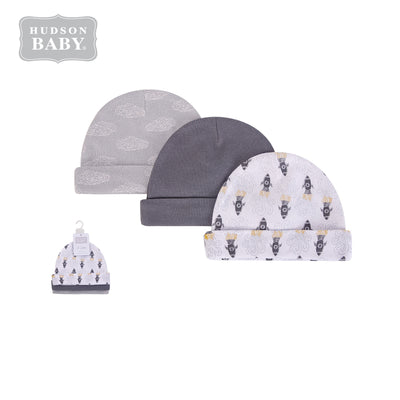 Baby Hats 3 Piece Pack 0-6 months 52312CH - 0805 - Little Kooma