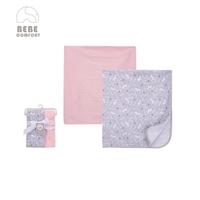 Baby Interlock Swaddle Blankets 2pc 51439 - 0821 - Little Kooma